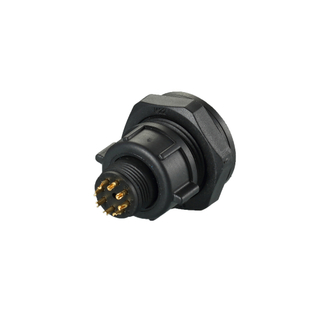 PAB.2M309.NA10LM - Quick Connector Power Waterproof IP67 Overmolding Cable Connector