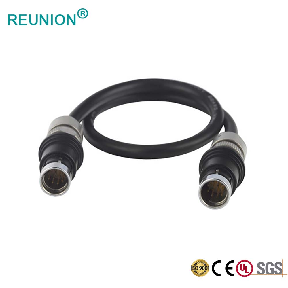 Custom medical coaxial connector with cable assembly for Medical System