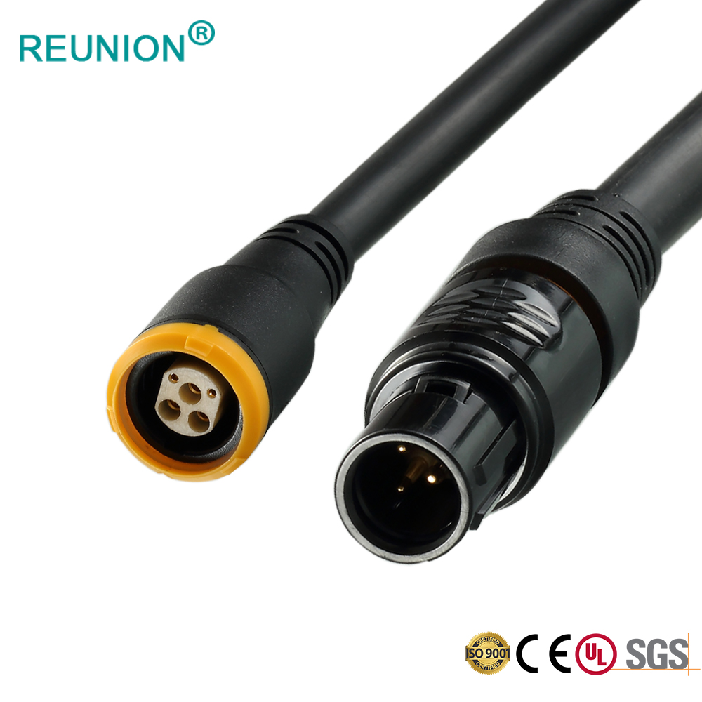Manufacturer supply cable mount straight plug and terminal female socket electronic connectors