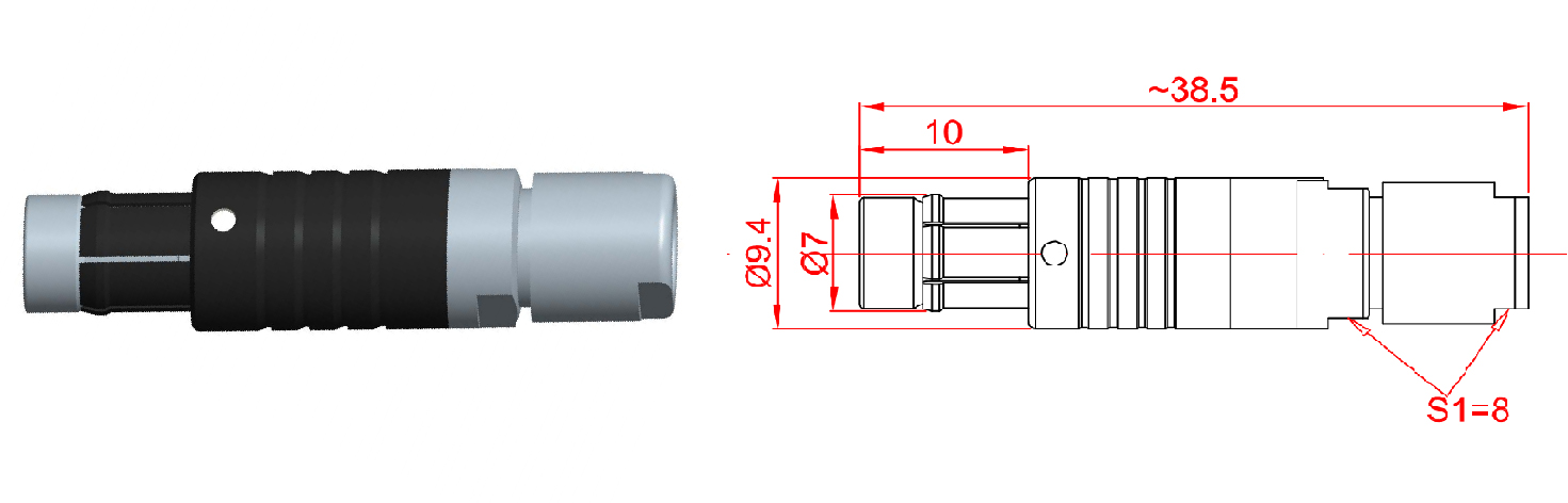 PGG.0F302.KPAC.52-Shenzhen Manufacturer Wholesale IP68 Waterproof Push Pull Electrical Plug Circular Connector