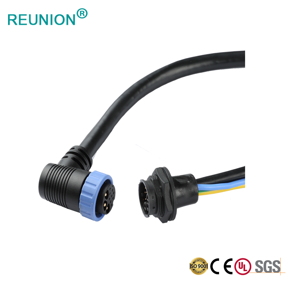 Panel Mount Power & Data Circular Harness with Female To Male Waterproof Connector Cable Assembly