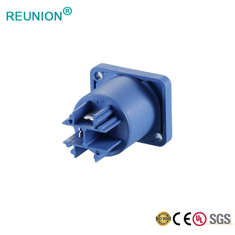 Field installation blue color Powercon female connector
