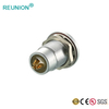 Shenzhen factory hot sell cheap price 4 poles PCB type female circular connector metal couplers