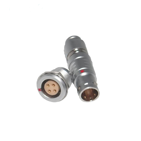 PGG.0B304.CPAC.52 - 4 pin male solder straight plug circular push pull connector FGG/PGG