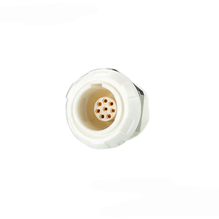 P series medical plastic circular connector with bucket contacts for wire/cable