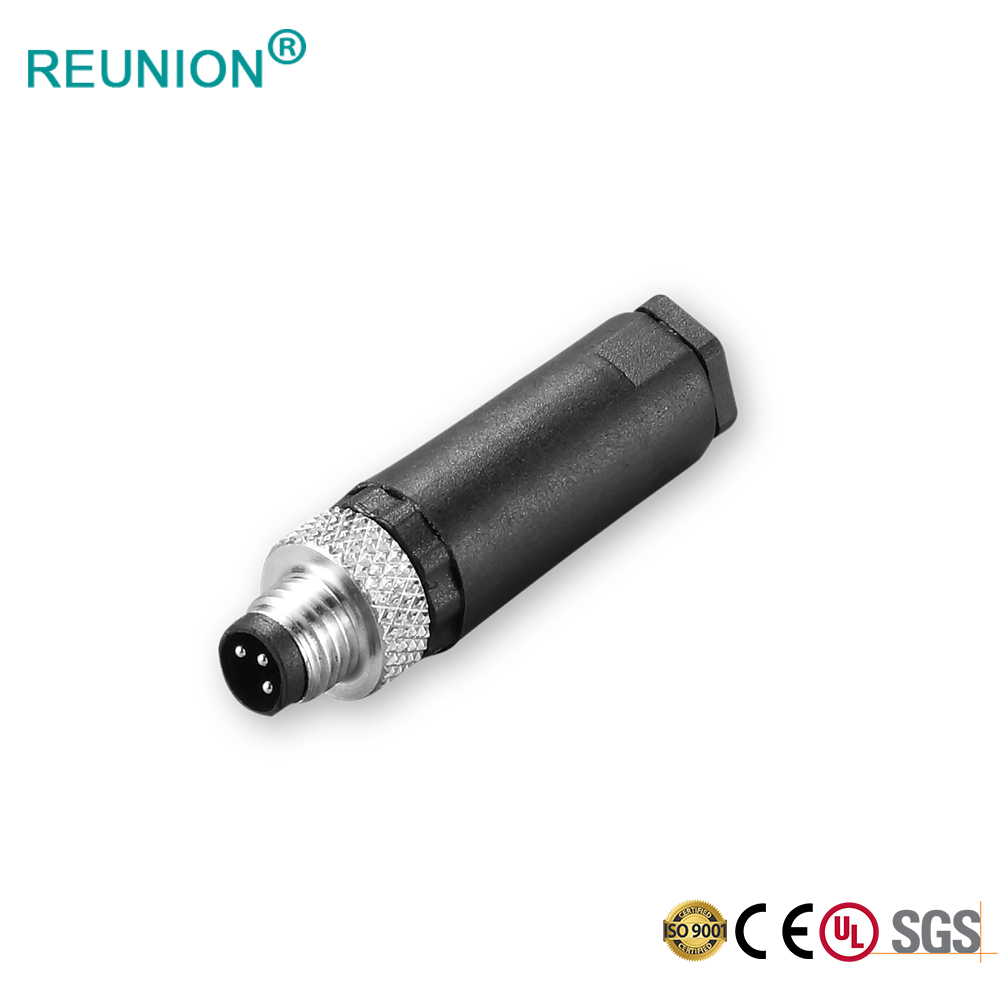 IP67 Waterproof Electrical Connectors Industrial M12 Screw Mount Connector