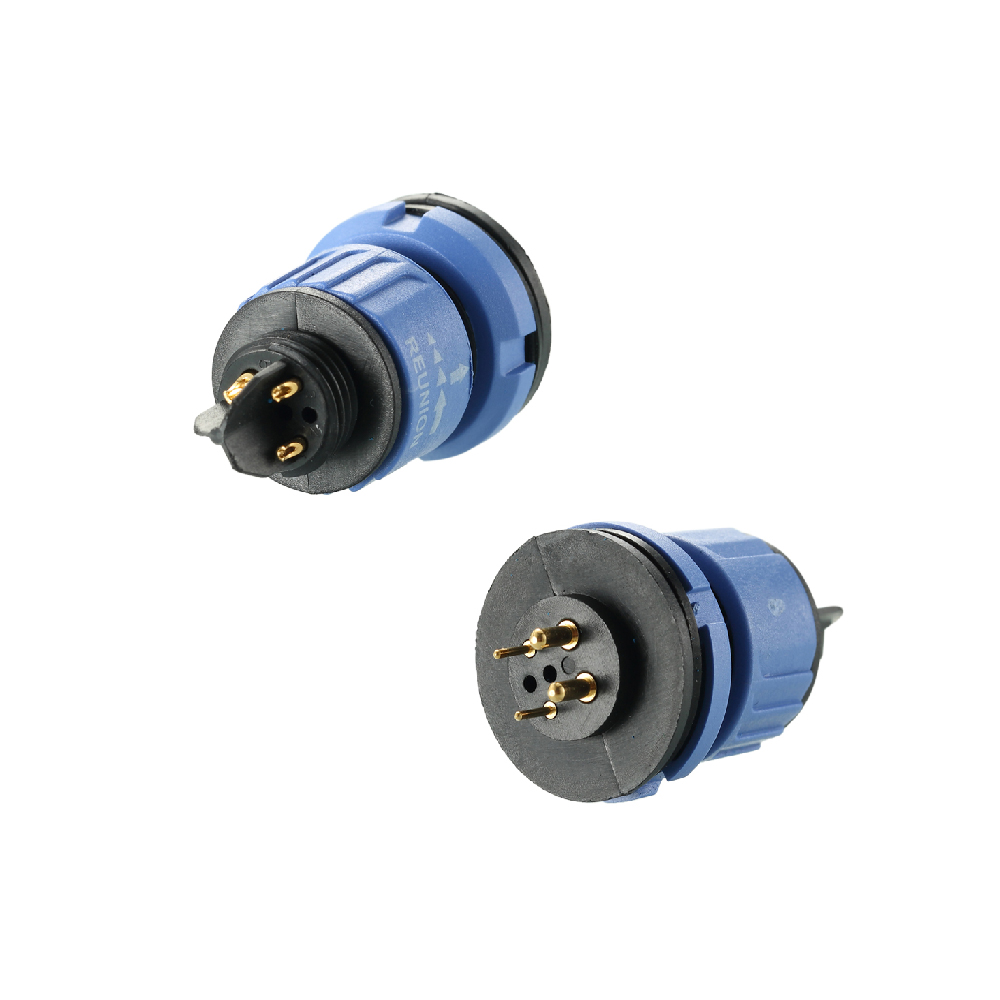Cable overmolding IP67 waterproof 1X series 2+4 power and signal connectors for LED lighting