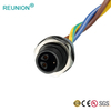 Electrical Wire Led Lighting Male Female Waterproof Cable Metal Connector IP67