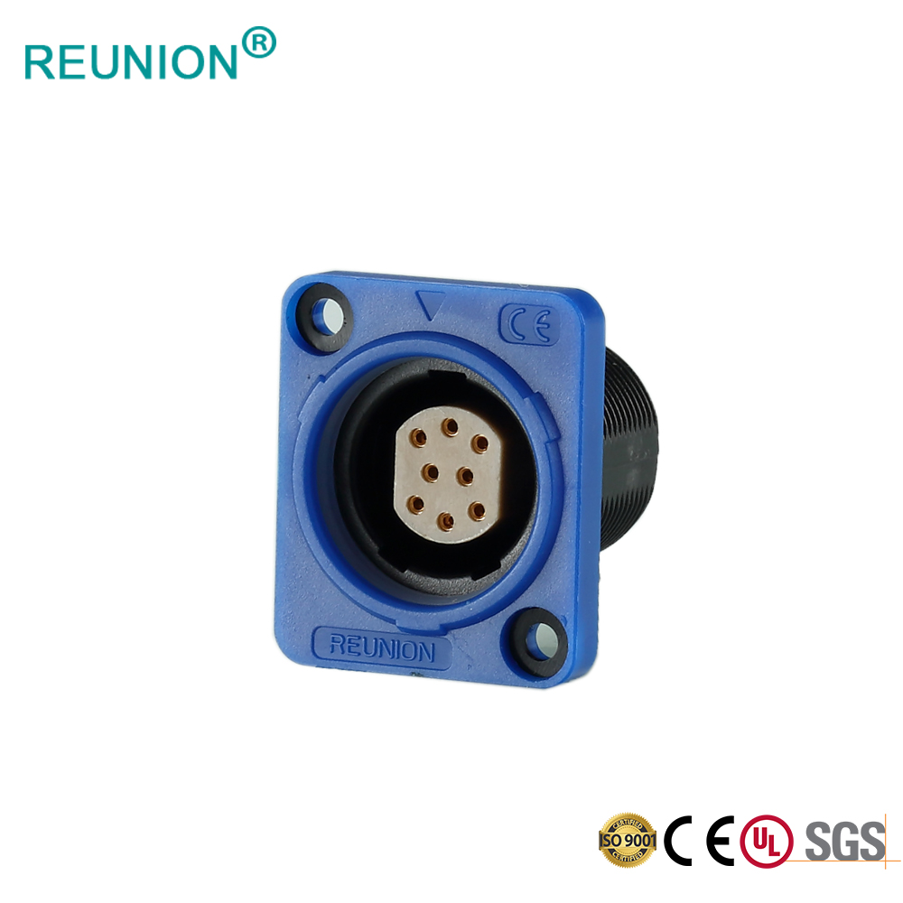P series 8pins LED screen data connector assembly 8pins female socket & RJ45 plug in Shenzhen Factory