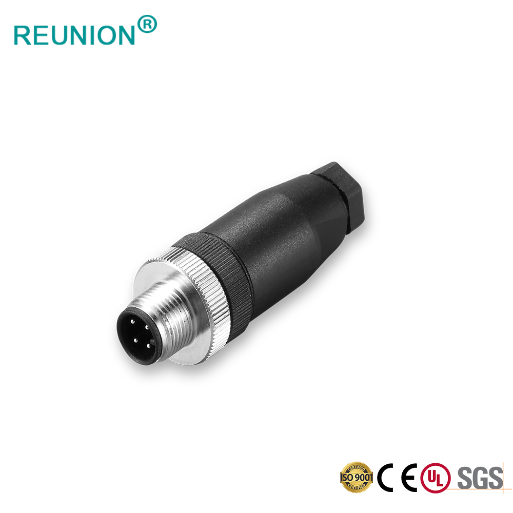 IP68 Waterproof 5 Pin A-coding M12 Sensor Connector Screw Lock Support Field Installation